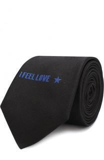 Шелковый галстук с вышивкой Givenchy