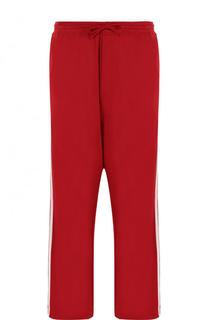 Хлопковые брюки свободного кроя с заниженной линией шага Y-3