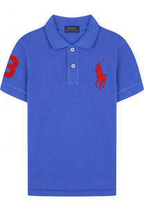 Хлопковое поло с нашивкой Polo Ralph Lauren
