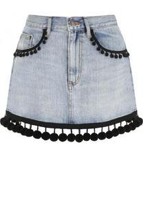 Джинсовая мини-юбка с потертостями Marc Jacobs