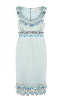 Мини-платье с завышенной талией и декоративной отделкой Marc Jacobs