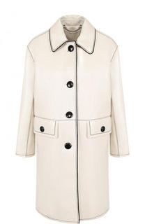 Пальто свободного кроя с контрастной прострочкой и укороченным рукавом Marc Jacobs