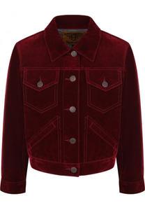 Однотонная бархатная куртка Marc Jacobs