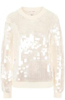 Шерстяной пуловер с пайетками Marc Jacobs