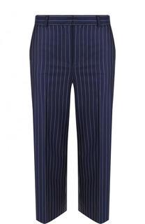 Укороченные шерстяные брюки в полоску Versace