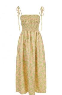 Платье-миди с завышенной талией и принтом CALVIN KLEIN 205W39NYC