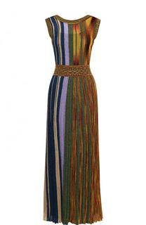 Приталенное вязаное платье-миди без рукавов Missoni