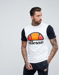 Футболка с контрастным логотипом внизу Ellesse - Белый