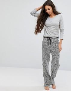 Пижама с лонгсливом в чехле Calvin Klein - Мульти