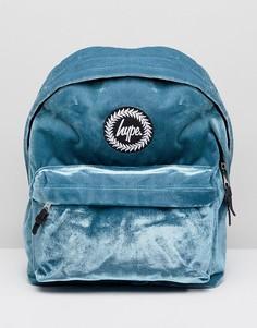 Сине-зеленый бархатный рюкзак эксклюзивно для Hype - Зеленый
