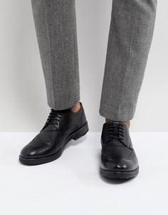 Черные кожаные броги Ben Sherman - Черный