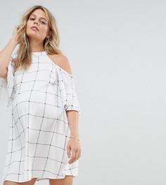 Платье с вырезами на плечах ASOS Maternity - Черный