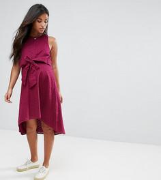 Платье с завязкой и вышивкой ришелье ASOS Maternity NURSING - Красный