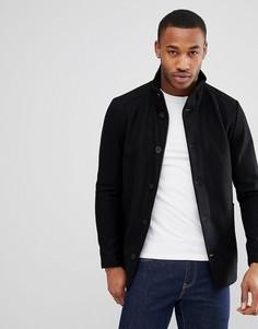 Куртка с добавлением шерсти и воротником-труба Jack & Jones - Черный