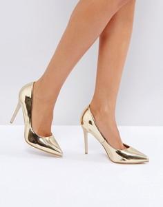 Туфли на высоком каблуке Little Mistress - Золотой