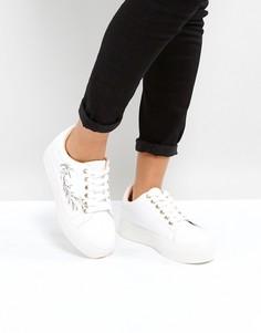 Кроссовки с вышивкой Park Lane - Белый