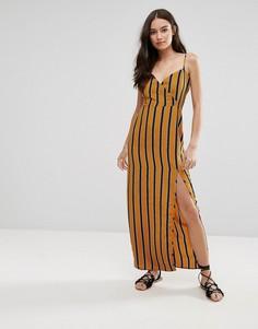 Платье макси в полоску Influence - Желтый