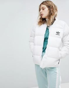 Дутая пуховая куртка Adidas Originals - Белый