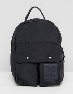 Маленький черный рюкзак с карманами adidas Originals - Черный