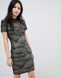 Облегающее платье с рисунком металлик Soaked In Luxury - Черный