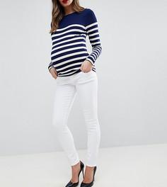 Белые джинсы скинни с завышенной талией ASOS MATERNITY RIDLEY - Белый