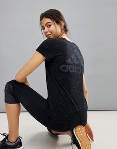 Черная футболка adidas Winners - Черный