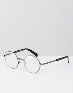 Круглые очки с прозрачными стеклами Marc By Marc Jacobs - Серебряный