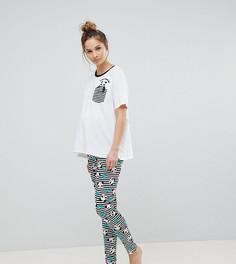 Пижамный комплект с леггинсами ASOS MATERNITY - Мульти