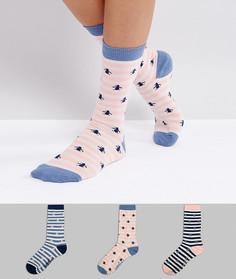 Набор из 3 пар носков в полоску Penguin - Мульти