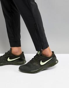 Кроссовки цвета хаки Nike Running Flex Contact 908983-300 - Зеленый