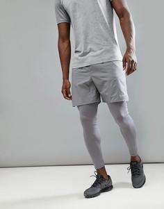 Серые шорты Nike Running Flex Distance 7 Inch 892911-036 - Серый