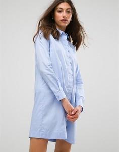Платье-рубашка Pieces Shelby - Синий