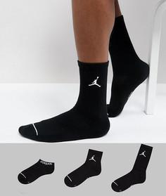 Набор черных носков Nike Jordan SX6274-010 - Черный