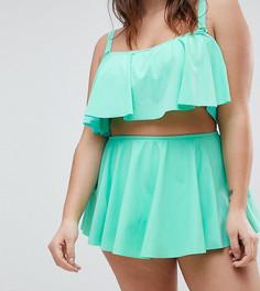 Плавки-бикини с юбочкой ASOS CURVE - Зеленый