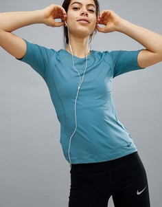 Синяя футболка Nike Pro Training Hypercool - Синий