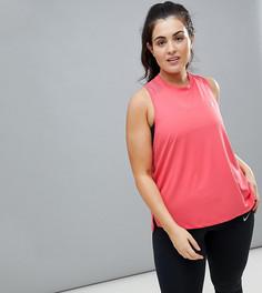 Розовая майка Nike Plus Running Dry Miler - Розовый