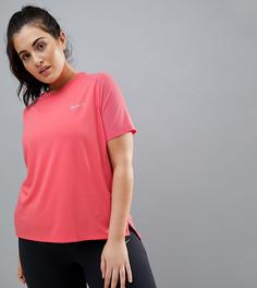 Розовая футболка Nike Plus Running Dry Miler - Розовый