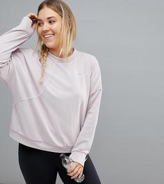 Розовый утепленный свитшот Nike Plus - Розовый