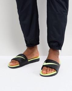 Черные шлепанцы Nike Benassi Solarsoft 705474-070 - Черный