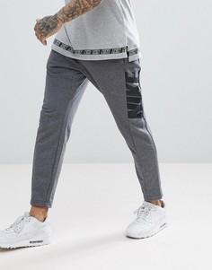 Серые суженные книзу джоггеры Nike Hybrid 885947-071 - Серый