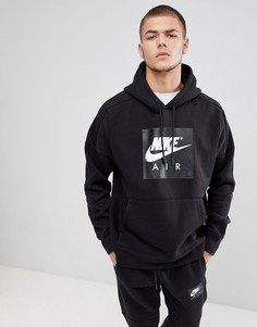 Худи черного цвета с крупным логотипом Nike Air 886046-010 - Черный