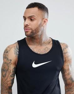 Черная майка с логотипом-галочкой Nike Dri-FIT AJ1431-010 - Черный
