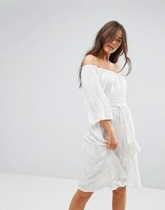 Кружевное платье с рукавами 3/4 Traffic People - Белый