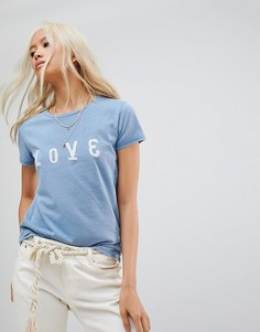 Футболка с принтом Love Maison Scotch - Синий