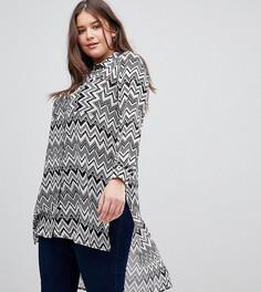 Длинная блузка с узором зигзаг Koko - Мульти