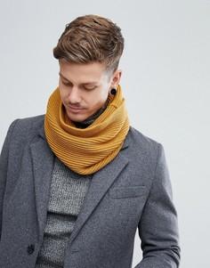 Желтый шарф-снуд в рубчик Dead Vintage - Желтый