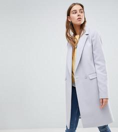 Приталенное пальто ASOS TALL - Серый