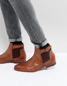 Светло-коричневые кожаные ботинки челси ASOS - Рыжий