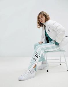 Спортивные брюки мятного цвета с кнопками adidas Originals adicolor - Зеленый