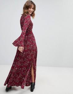 Платье макси в стиле ретро с расклешенными рукавами Band Of Gypsies - Мульти